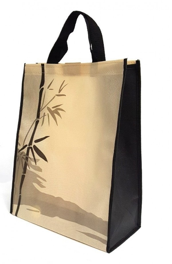 Bamboo Pattern Carrying Bag with Velcro Enclosing