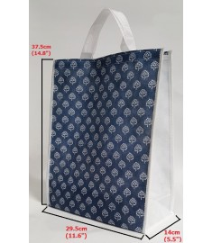 Blue Pattern Carrying Bag with Velcro Enclosing