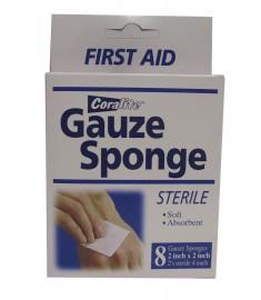 """Coralite  8 Gauze Sponges - 2"""" x 2"""""""