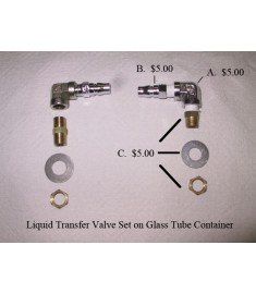 Liquid Transfer Valve Set on Glass Tube Container