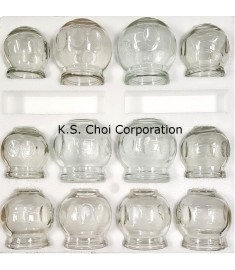 Professional Quality 12 pc Glass Jar Set(4 cups Med ) (4 cups Large) (4 cups X-Large)