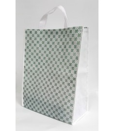 Green Pattern Carrying Bag with Velcro Enclosing